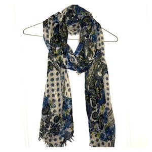 Accessories - Blue Patterned Scarf